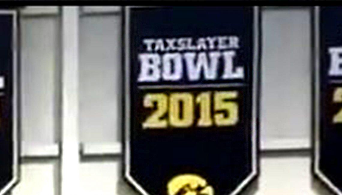 Iowa TaxSlayer Bowl 2015 Banner